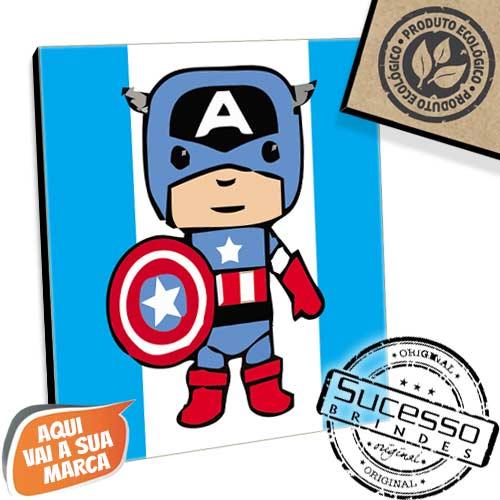 Placa em mdf, placa ecológica, produto ecológico, brinde ecológico, placa para parede, mini quadro, quadro, quadrinho, ecológica, personagem, capitão américa, comics, marvel, nerd, geek