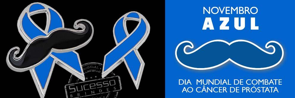 Novembro azul, o mês da prevenção do câncer de próstata.
