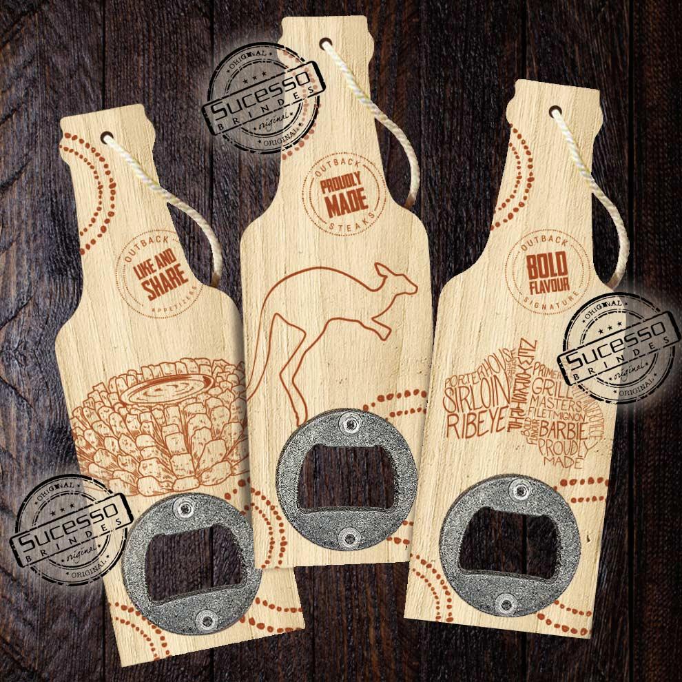 Abridor de garrafa em madeira