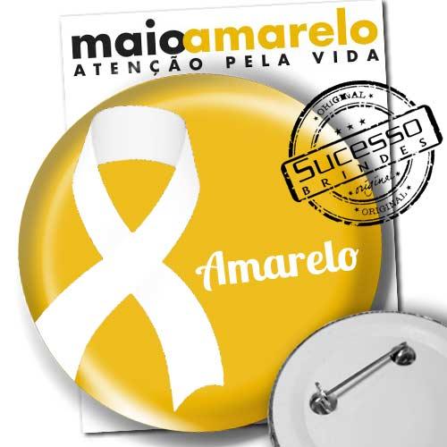 Brindes para Campanha do Laço Amarelo - Maio Amarelo - Amor pela Vida