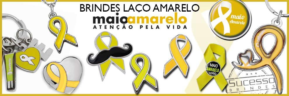 O Pin ou Broche Laço Amarelo é utilizado na Campanha contra Acidente de Trânsito