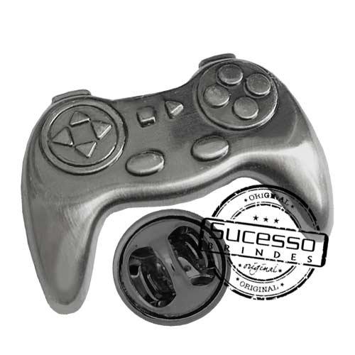 2230-pin-personalizado-com-relevo-3D-prateado-jogo-game-controle-joystick-videogame