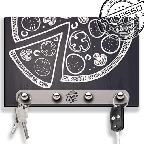 Porta Chave, brinde inovador, brinde novidade, porta chaves, pizza, lousa, pizzaria