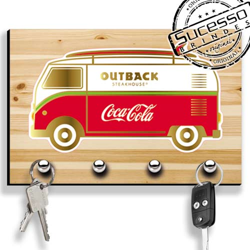 Porta Chave, brinde inovador, brinde novidade, porta chaves, retrô, outback, coca-cola, kombi