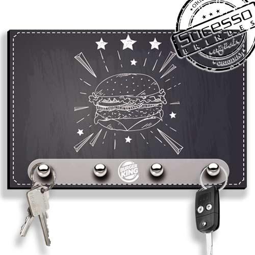 Porta Chave, brinde inovador, brinde novidade, porta chaves, lousa, sanduiche, burger King