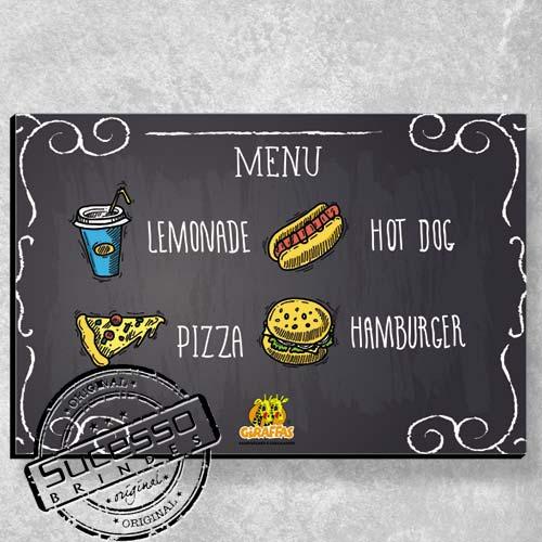 A Sucesso Brindes fabrica placas personalizadas, placa de madeira, placa de mdf, placa em mdf, placas personalizadas ou quadros personalizados para campanhas promocionais ou ação de marketing, restaurante, fast food.