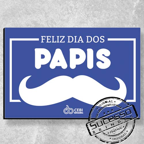 Placa decorativa personalizada - Dia dos Pais