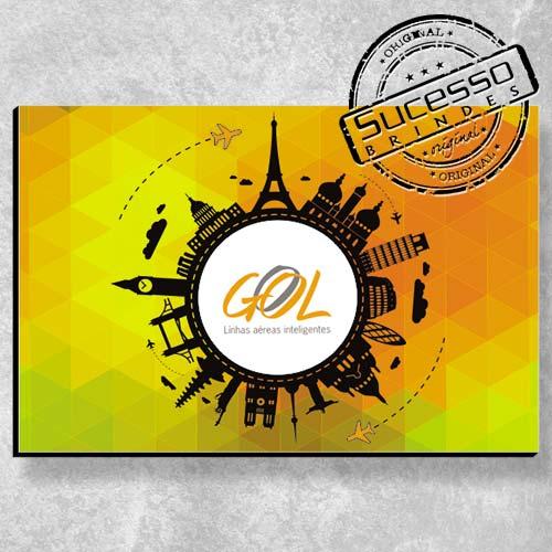 Placa decorativa personalizada - Gool Viagens