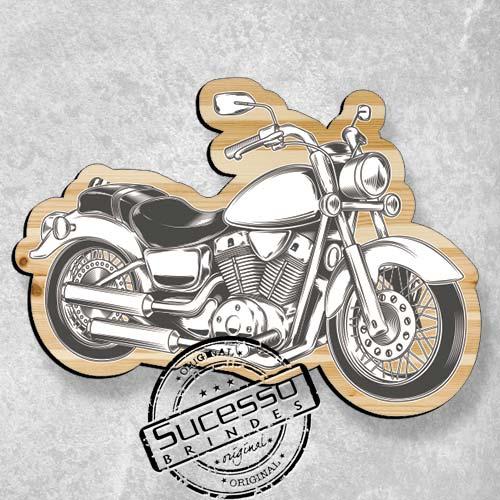Placa personalizada no formato de moto Harlley.