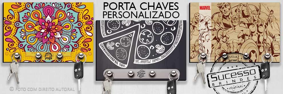 Porta Chaves personalizado com a sua arte e logo, fabricado em MDF, madeira ecológica de reflorestamento.