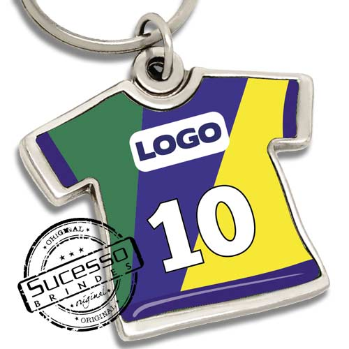 chaveiro camiseta, camiseta, brinde para copa, copa, uniforme de futebol, camiseta de futebol, camiseta do brasil