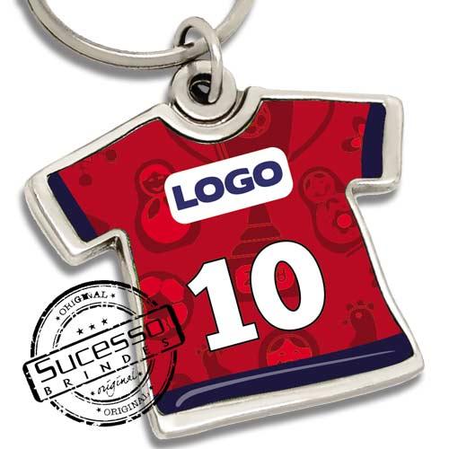 chaveiro camiseta, camiseta, brinde para copa, copa, uniforme de futebol, camiseta de futebol, camiseta do brasil, copa Russia.