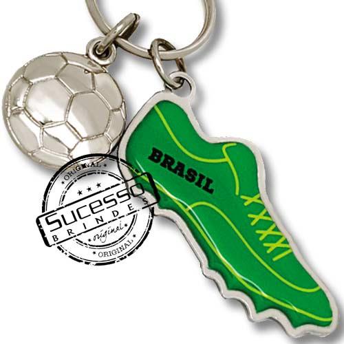 utebol, copa do mundo, brinde para copa, brinde para futebol, chaveiro futebol, brasil, bola, chuteira.
