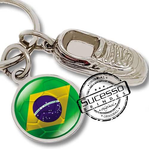 utebol, copa do mundo, brinde para copa, brinde para futebol, chaveiro futebol, chuteira, brasil, bandeira