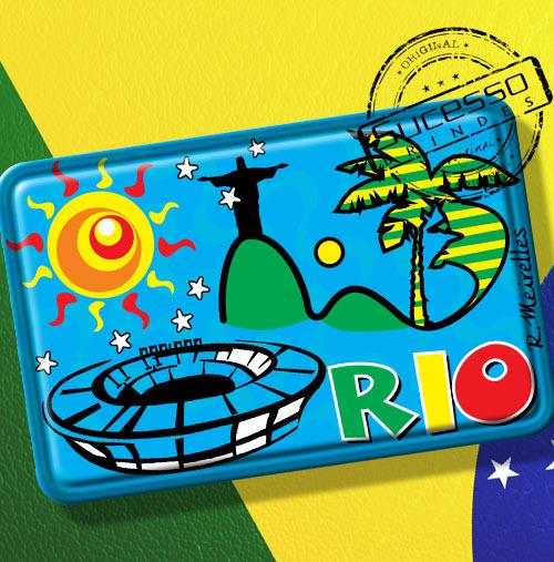 Imã de Geladeira personalizado com artes do Brasil - Rio de Janeiro