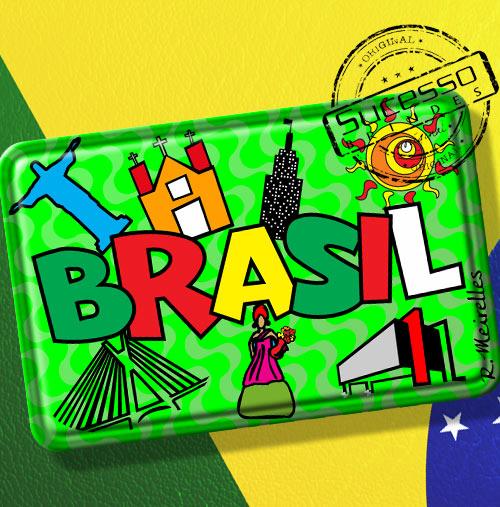 Imã de Geladeira personalizado com artes do Brasil - Estados brasileiros