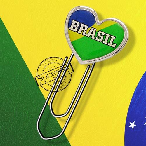Clipe marcador de página personalizado Brasil, copa do mundo.