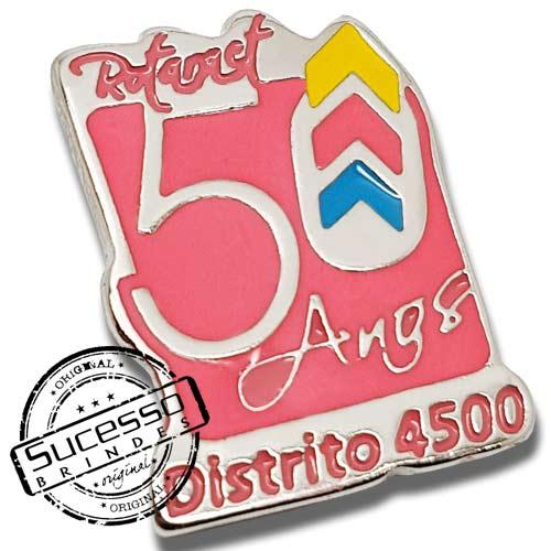 PIN EM METAL COMEMORATIVO 50 ANOS