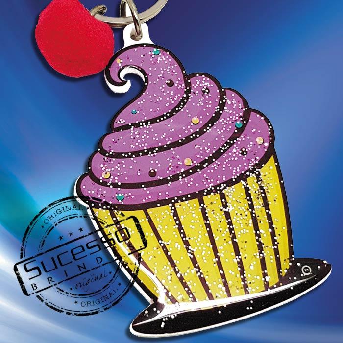 Chaveiro Personalizado no formato de cupcake