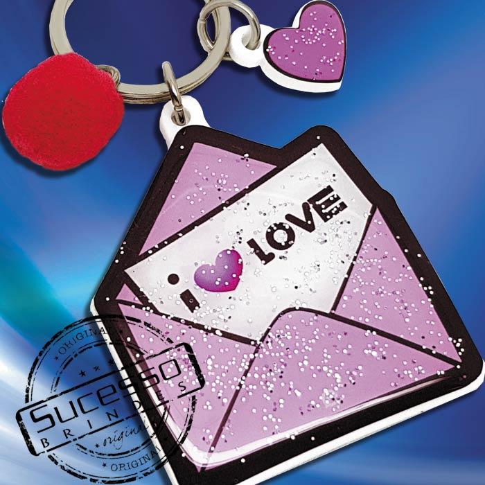 Chaveiro Personalizado no formato de envelope