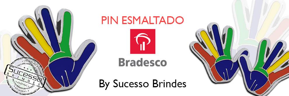 Pin-resinado-Bradesco-no-formato-de-mao-fabricado-pela-Sucesso-Brindes