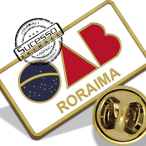 Pin Resinado com o logo da OAB - Roraima