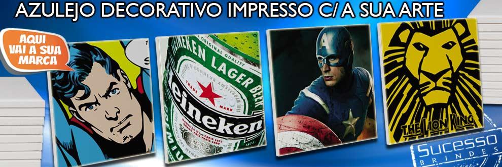 Azulejo Impresso com temas Geek