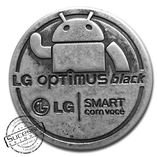 ímã ou magneto personalizado, fabricado em metal com relevos e resina colorida e acabamento envelhecido,modelo LG.