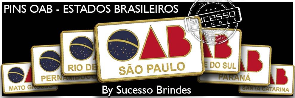 Pin OAB Metálico Personalizado com o Logo da OAB e o Nome da Cidade.