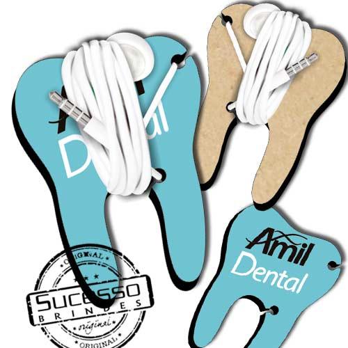 Brinde ecológico porta fone de ouvido tecnológico para celular eletronico medico dentista dente dental