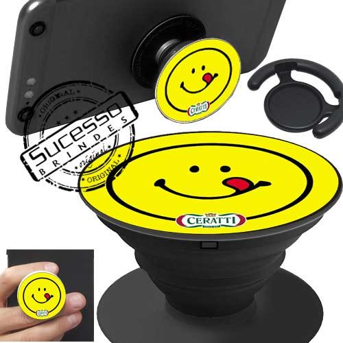 Popsockets, pop socket, pop socket para celular, suporte para celular, base para celular, apoio para celular, mortadela, rosto, face, sorriso, smile.