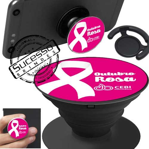 Popsockets, pop socket, pop socket para celular, suporte para celular, base para celular, apoio para celular , outubro rosa, laco rosa, laço da conscientização, cancer.