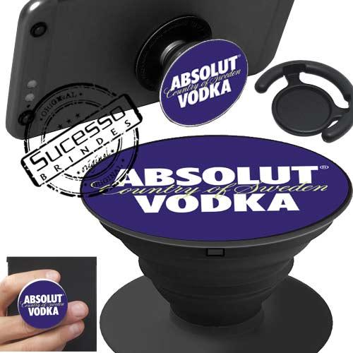 Popsockets, pop socket, pop socket para celular, suporte para celular, base para celular, apoio para celular, garrafa, vodka, bebida.