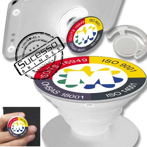 POP SOCKET PARA CELULAR fabricado em plástico e personalizado, Popsockets, base para celular ou suporte para celular.